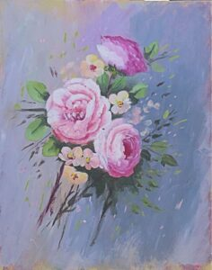 Painting Florals for Beginners Class with Velvet Tetrault Gibbons 5 weeks